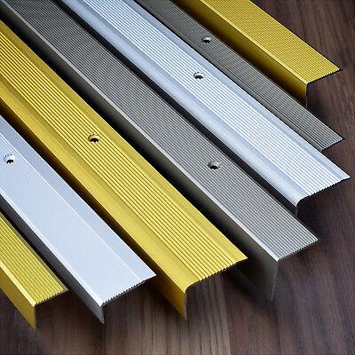 Nez De Marche Bande Aluminium Escalier Transition Durable Bois Tapis Carrelage Ebay