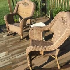 Wicker Rocking Chair Wire Dining Chairs Uk Outdoor Cushion Rocker Seat Porch Garden Patio Image Is Loading