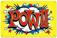 Vintage Retro Comic Book Pow! Batman Metal Sign Unique