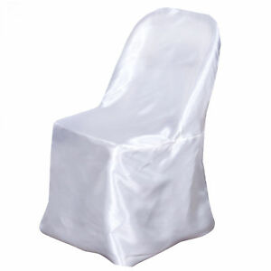 white folding chair covers ebay ergonomic harvey norman satin cover sample wedding party catering dinner image is loading