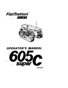 NEW HOLLAND 6030471500 Fiat 605C TRACTOR OPERATORS MANUAL