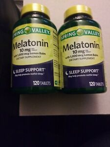 Melatonin 10 mg with 1000 mcg Lemon Balm Lot   eBay