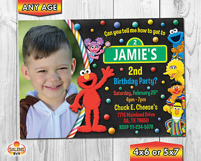 elmo invitation elmo photo birthday party invitation