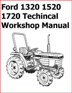 Ford 1320 1520 1720 FORD TRACTOR TECHINCAL WORKSHOP REPAIR