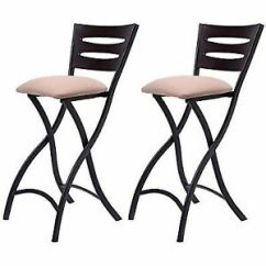 Folding Bar Stool Chairs Swing Chair On Sale Costway Set Of 2 Stools Counter Height Bistro Dining Stock Photo