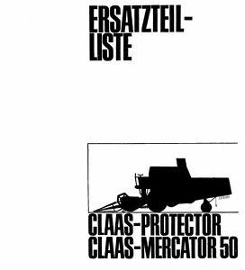 CLAAS Protector / Mercator 50 Combine Parts Manual (PDF