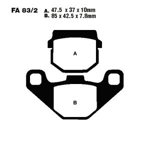 Scooter Brake Pads Sintered HH EBC For Simson Sula 100