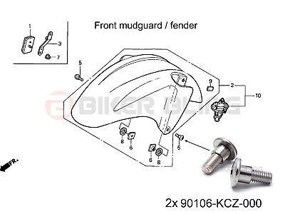 Honda CBR600F4i Sport 2001-2003 2x shouldered front
