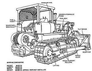 Caterpillar D-7E D7E D7-E Parts Service Repair and
