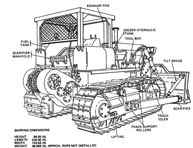 Buy Caterpillar D-7e D7e D7-e Parts Service Repair and