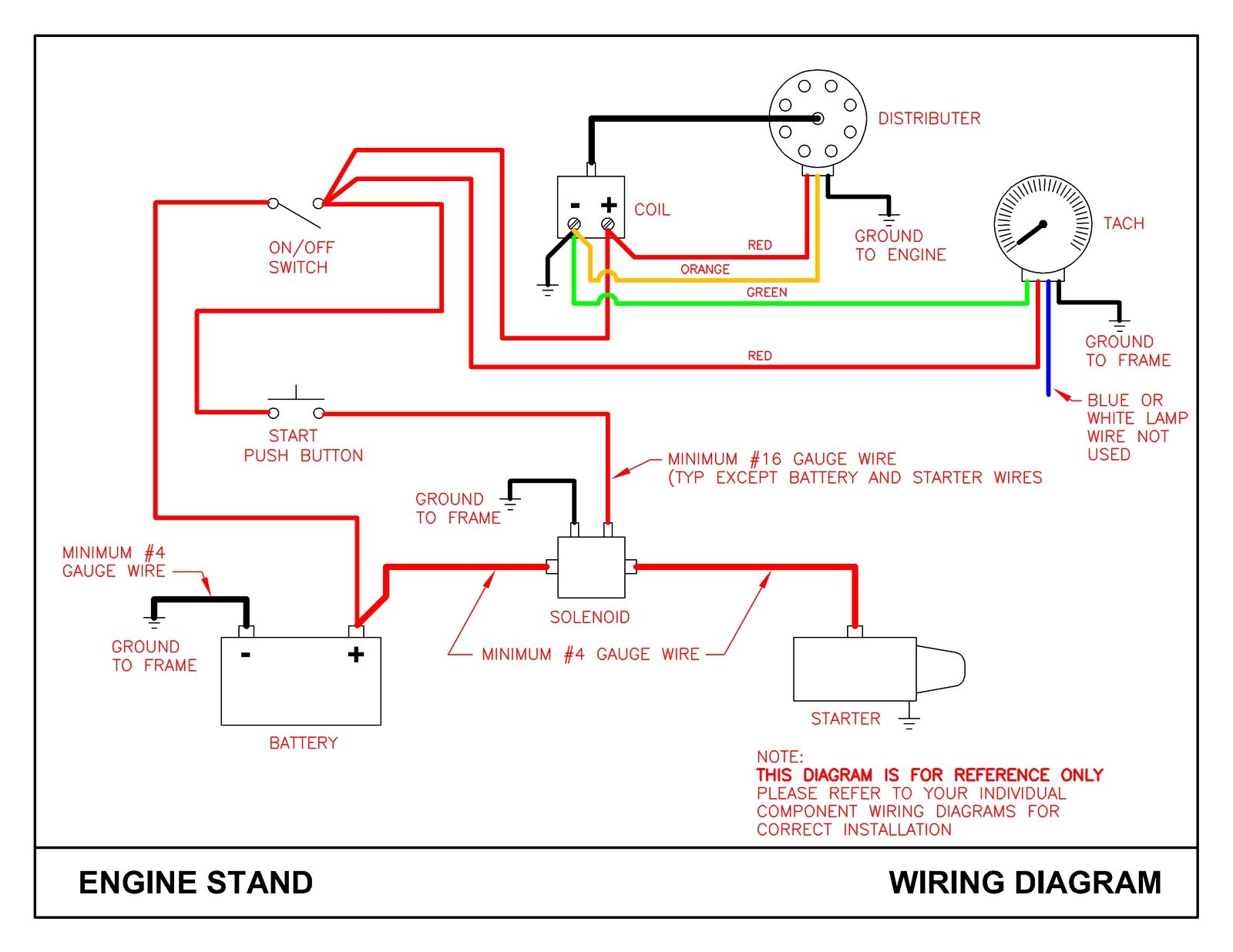 hight resolution of engine start test stand plans ford gm mopar ebay wiring diagram engine stand