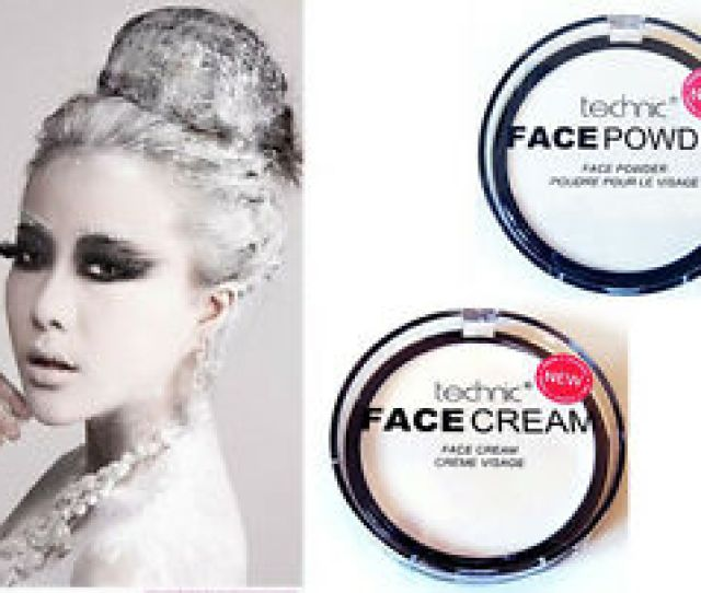 Technic White Face Body Paint Powder N Cream