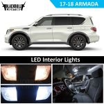 White Led Interior Light Accessories Kit For 2017 2018 Nissan Armada 16 Bulbs Ebay