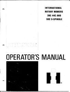 CUB CADET INTERNATIONAL ROTARY MOWER 38C 44C 50C 3-SPINDLE