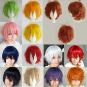 real soft straight hair wig anime
