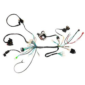Magneto Full Wiring Harness CDI Regulator for 50cc 110cc