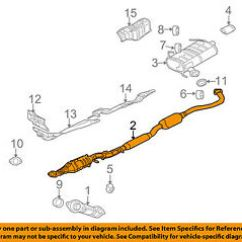 Mitsubishi 2 4l Engine Diagram Saab 9 3 Oem 08 10 Outlander L4 Exhaust Intermediate Pipe Image Is Loading