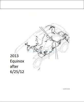 2013 Chevy Equinox 2.4L 2WD Chevrolet floor main body wire