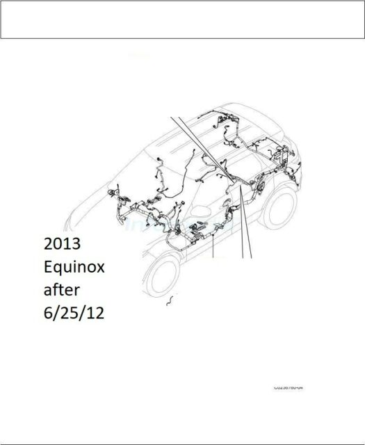 2013 Chevy Equinox 2.4L 2WD Chevrolet floor main body wire