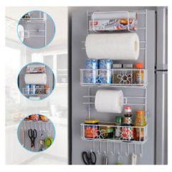 Kitchen Storage Racks Where To Buy Appliances 8 Hooks Over Fridge Shelf Cabinet Image Is Loading