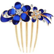 luxury royal blue two flowers shiny