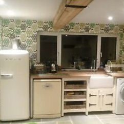 Free Standing Kitchens Kitchen Liquid Dispenser Solid Pine Freestanding Belfast Butler Sink Unit Oak Top Image Is Loading