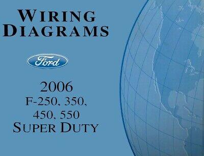 2006 ford f250f550 super duty truck electrical wiring diagrams schematics   ebay