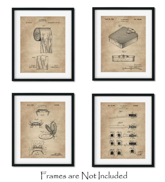 Bathroom Wall Art Quotes Set Of 4 Art 8x10 Home Decor Posters Prints For Sale Online Ebay