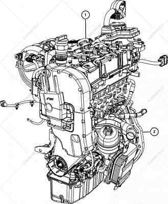 Dodge Fiat Jeep multiair 1.4t engine block and lower head