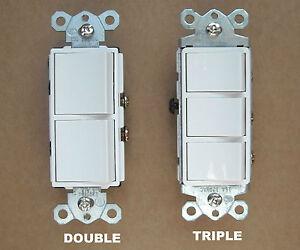 Light Fan 3 Way Wiring Diagram Decora Rocker Wall Double Triple Combination Stack