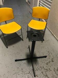 used restaurant chairs pub table with 8 furniture and tops bases ebay image is loading
