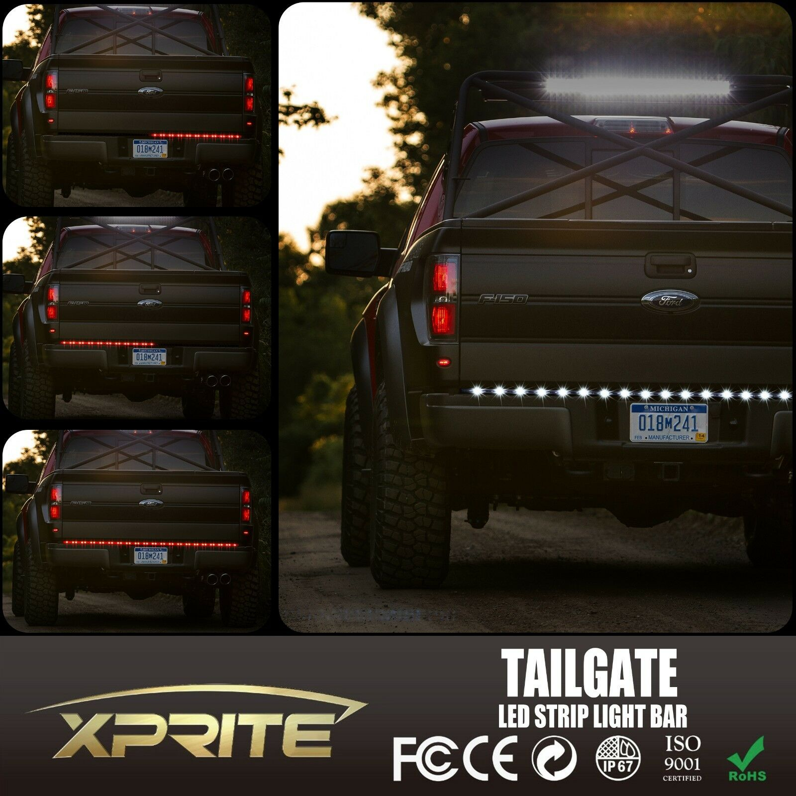 led tailgate bar schecter diamond series wiring diagram 60 quot tail light strip truck pick up