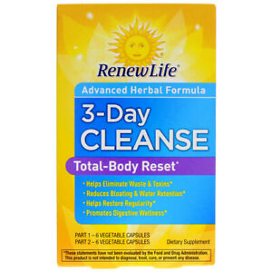 3 Day Cleanse by Renew Life - 1 Kit 06/2020 631257154262 ...