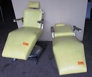vintage dentist chair commode shower chairs yellow ebay image is loading