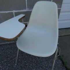 Herman Miller Stacking Chairs Clear Chair Mat Vintage Mid Century Modern Og Eames Side Shell Image Is Loading