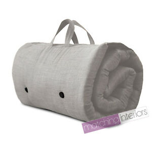 Image Is Loading Grey Travel Guest Sleepover Single Mattress Roll Up