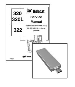 Bobcat 320 L 322 D-Series Excavator Service Repair Manual