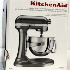 Kitchen Aid Pro Large Table Kitchenaid 600 Stand Mixer 6qt Liquid Graphite Kp26m1xqg Ebay Kp26m1x New Other