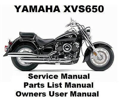 YAMAHA XVS650 V-STAR DRAG Owners Workshop Service Repair
