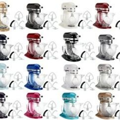 Kitchen Aid Colors Resurfacing Countertops Kitchenaid Stand Mixer Ksm154gb 5 Qt W Glass Bowl Flex Edge Beater Image Is Loading
