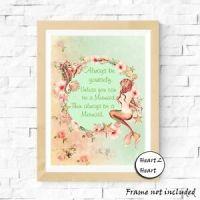 Vintage Mermaid Quote #3 Print Home,Gift,Decor,Kids ...