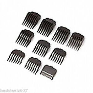 Wahl 10 pc Hair Clipper Guide Combs Set #3173-500 USA