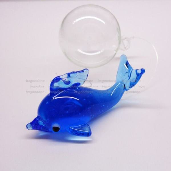 Fish Tank Dolphin Floating Blown Glass Bubble Micro