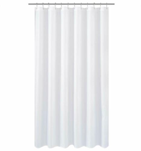 pvc fr hotel quality machine washable fabric shower curtain liner solid white bathroom supplies accessories garden curtains