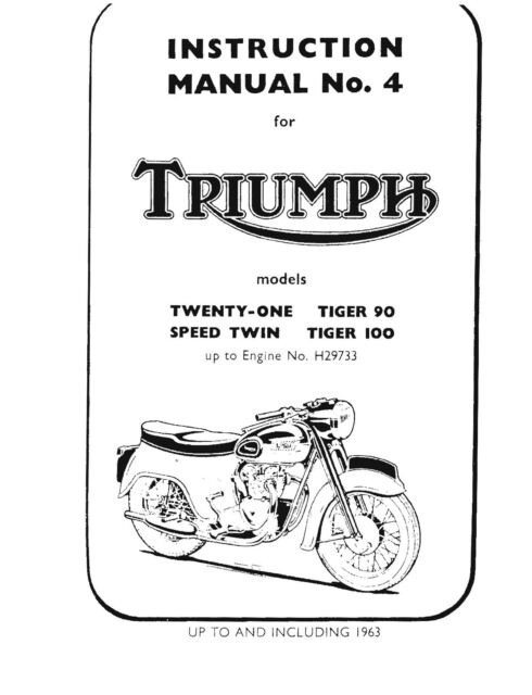Triumph Workshop Manual 1957, 1958, 1959, 1960, 1961, 1962