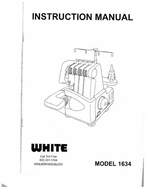 White WSL1634 Sewing Machine/Embroidery/Serger Owners
