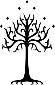 White Tree of Gondor Lord of the Rings Vinyl Car Window