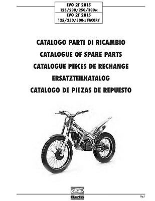 Beta Parts Manual Book Chassis & Engine 2015 EVO 2T