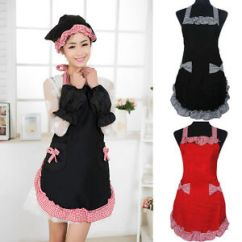 Cute Kitchen Aprons Mobile Kitchens Girl Women S Hot Fashion Apron Cooking Dress Image Is Loading