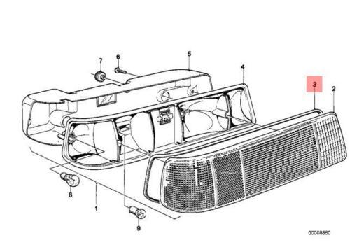 Genuine BMW E21 Sedan Sealing Frame Right OEM 63211362666